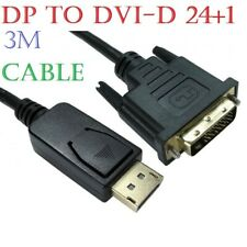 3M DisplayPort Display Port DP to DVI-D 24+1 Male Digital Video Cable Lead PC TV