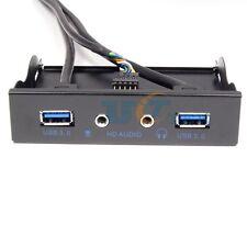 "USB3.0 Front Panel 3.5"" USB3.0 20Pin Connector to 2Port USB3.0 HUB w/ HD Audio"