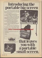 Home Video Big Screen 1981 Magazine Advert #3539