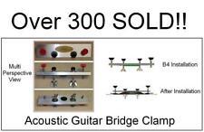 AxeMasters Guitar BRIDGE CLAMP 1 - PARALLEL Bridge Pin Holes Luthier Caul Tool