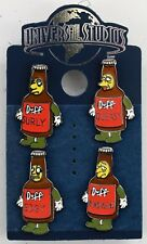 NEW Universal Studios Simpsons 7 Duffs Surly Queasy Edgy Remorseful 4 Pin Set