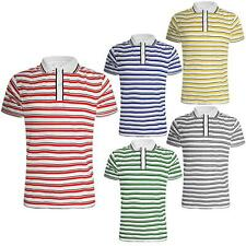 MENS COLLARED POLO T-SHIRT PIQUE SHORT SLEEVES SUMMER NECK REGULAR TOP SPORTS