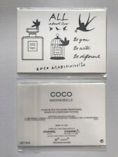 "RARE Authentic CHANEL Coco Mademoiselle Board Of 9 Temporary Tattoos 3.5""x2.5"""
