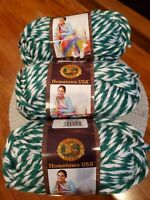 Lion Brand Yarn Hometown USA , Spartans Pattern, 3 Skeins Brand New