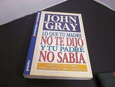 LO QUE TU MADRE NO TE DIJO Y TU PADRE NO SABIA CONOZCA A SU PAREJA por JOHN GRAY