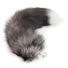 Chic Women's Fox Fur Tail Tassel Bag Tag Handbag Pendant Key Chain Keyring Gift