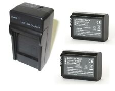2x (twin pack) FW50, NPFW50 Compatible Battery & Charger for Sony A6500 A6300 A7