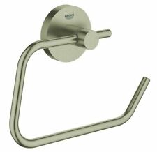 Grohe ESSENTIALS TOILET ROLL HOLDER 119mm Wall Mounted BRUSHED NICKEL
