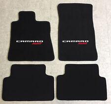 Autoteppich Fußmatten für GM Chevrolet Camaro weiss rot 2farbig ab 2016 Velours
