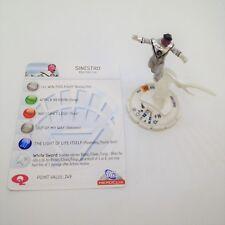 Heroclix DC75th Anniversary set Sinestro (White Lantern) #100 LE figure w/card!