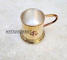 "Brass Wine Goblet Glass Handmade Copper Anchor Shot Glass Wine 2"""