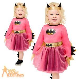 Toddler Pink Batgirl Costume Licensed Superhero Book Week Day Fancy Dress Outfit