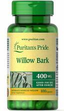 Puritan's Pride Willow Bark 400 mg - 100 Capsules (free shipping)