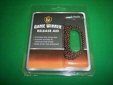 Game Winner Archery Release Aid 3-Pack String Loop Black & Orange - Bow Hunting
