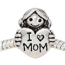 """ANDANTE-STONES SILBER BEAD """"I Love Mom"""" LIEBE MEINE MUTTI MUTTER #3452 +GESCHENK"""