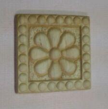"Cabinet Furniture Birch Wood Applique Small Square Flower 1-7/8"" x 1-7/8"""