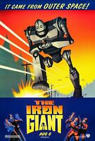 """IRON GIANT Original Double-Sided 27"""" x 40"""" Advance Movie Poster 1999 NrMT Rolled"""