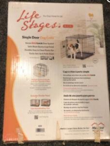 "Pet Crate Small/Medium Dog Puppy Cage Single Door Metal 24.5""x17.5""x19.5"""