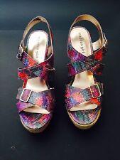 Reduced Madden Girl High Heel Wedge Sandal; Womens Sz 10