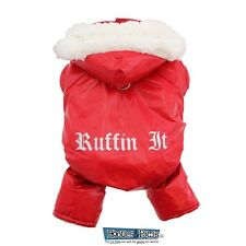 Doggie Design Lined Water Repellent Red Ruffin It Snow Suit Warm Outdoor Jacket