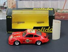 Vintage Solido 68 1:43 O Scale Porsche 934 Red Rallye MIB 1979 France