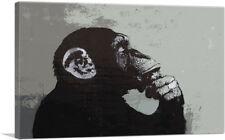 ARTCANVAS The Thinker Monkey Canvas Art Print by Banksy
