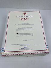 Laura Ashley Lifestyles Summer Haven Bedskirt Twin Ranbow Colors On White New