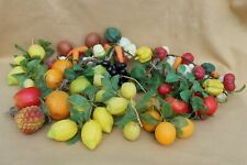Vintage Realistic Plastic Fruit and Vegetables