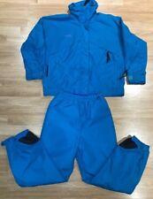 🔥Vintage Columbia Nylon Track Suit Radial Sleeve Womens Sz M Zip Jacket & Pants