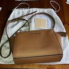 10af347c4879 Genuine Michael Kors Medium Brown Selma Saffiano Leather Handbag