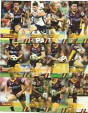 2008 NRL SELECT CHAMPIONS BRISBANE BRONCOS TEAM SET 12 CARDS