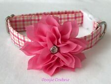 Strawberry Sherbet Dog Collar Size XS-L by Doogie Couture