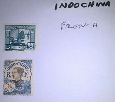 Stamps from Indochina, (Inochine) 2 off