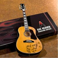 "JOHN LENNON ""GIVE PEACE A CHANCE"" ACOUSTIC GUITAR MODEL Miniature Guitar Replica"
