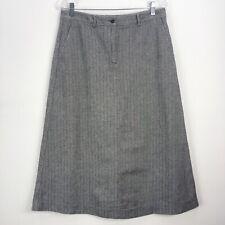 LL Bean Skirt 10 Reg Classic Skirt Herringbone Black Pockets Lined Modest