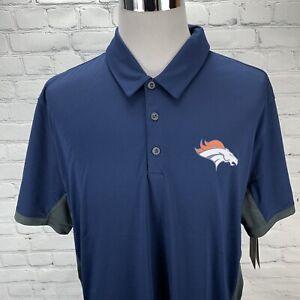 Nike Mens Denver Broncos Polo NFL Shirt Dri-Fit Size XXL