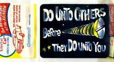Vintage Prismatic sticker 70's Do Unto Others Before they Do Unto Hot Rod Van