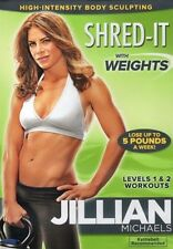 KETTLEBELL EXERCISE DVD - Jillian Michaels SHRED IT WITH WEIGHTS - 2 Workouts!