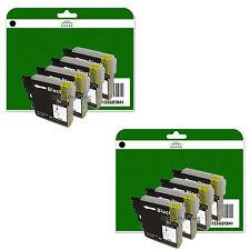 8 Black Ink Cartridges for Brother MFC-J220 J265W J410 J415W non-OEM LC985