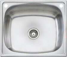 Oliveri 70cm Cabinet 70L Laundry Tub Inset Sink With Rinse Bypass TI70S