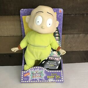 "Rugrats 12"" Baby Dil Pickles Crying Nickelodeon 1998 Green Rugrats Movie New"