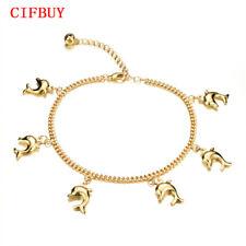 Fish Pendant Woman Anklets New Fashion Gold Color Vintage Ankle Bracelet Jewelry
