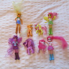 2015 MCDONALDS MY LITTLE PONY EQUESTRIA GIRLS MLP SET LOT 8 DOLLS PONY FIGURES