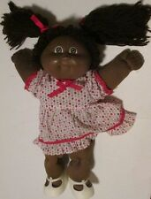 Vintage CPK CABBAGE PATCH KIDS Black AA Girl Doll brown hair pigtails OK tag