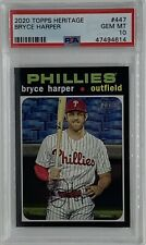 Bryce Harper 2020 Topps Heritage PSA 10 Gem Mint #447 Phillies SP