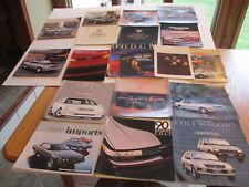 1970s 1980s 1990s Chrysler Dodge Plymouth & Eagle Import Sales Brochure 18 pcs