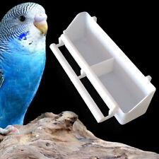 2Pcs Parrot Hanging Feeder with Perch For Cage Birds Aviary Finch Budgie Canary