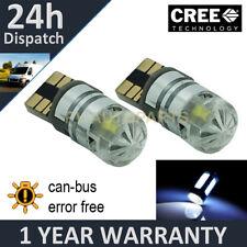 2x W5W T10 501 Can Bus Blanco Libre de Errores Led Cree Alto Nivel Bombillas