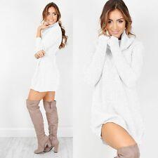 Winter Dress Women's Warm Sweater Turtleneck Long Sleeve Skinny Knitted Office