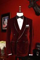 Men OCC EHS Designer Wedding Groom Tuxedo Dinner Velvet Coats Jacket Blazers UK